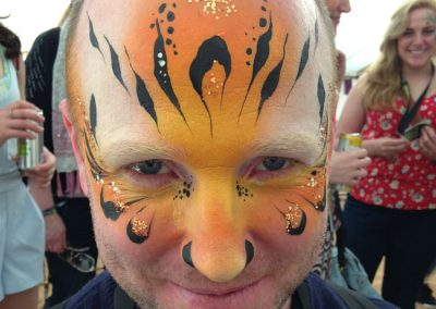 Tiger man with glitter